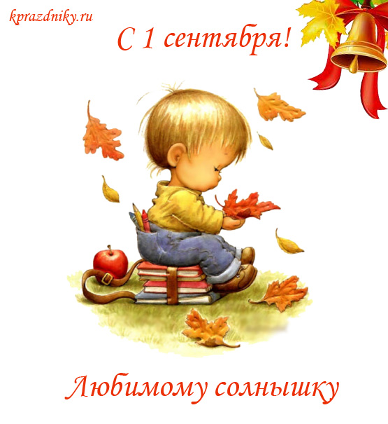 Поздравительная открытка к 1 сентября - Любимому солнышку